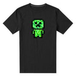 Чоловіча стрейчева футболка Кріпер піксель арт