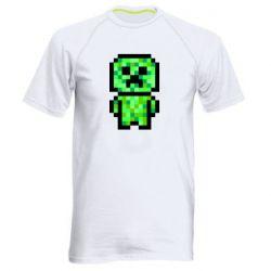 Чоловіча спортивна футболка Кріпер піксель арт