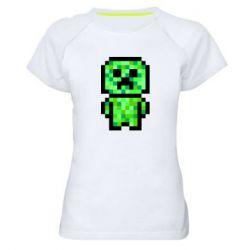Жіноча спортивна футболка Кріпер піксель арт