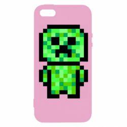 Чохол для iphone 5/5S/SE Кріпер піксель арт