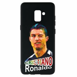 Чохол для Samsung A8+ 2018 Крістіано Роналдо, полігональний портрет
