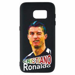 Чохол для Samsung S7 Крістіано Роналдо, полігональний портрет