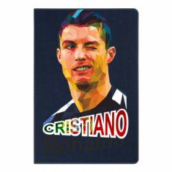 Блокнот А5 Крістіано Роналдо, полігональний портрет