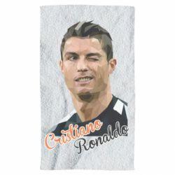 Рушник Крістіано Роналдо, полігональний портрет
