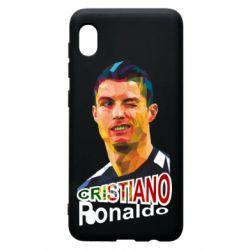 Чохол для Samsung A10 Крістіано Роналдо, полігональний портрет