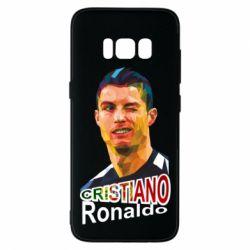 Чохол для Samsung S8 Крістіано Роналдо, полігональний портрет