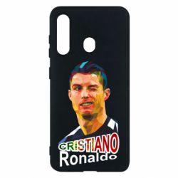 Чохол для Samsung M40 Крістіано Роналдо, полігональний портрет