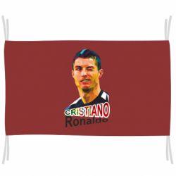 Прапор Крістіано Роналдо, полігональний портрет