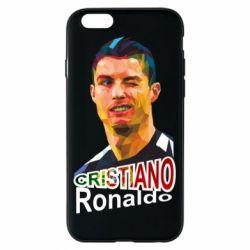 Чохол для iPhone 6/6S Крістіано Роналдо, полігональний портрет