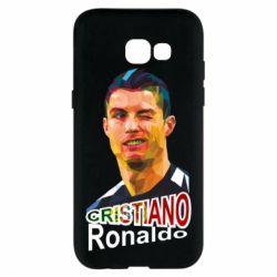 Чохол для Samsung A5 2017 Крістіано Роналдо, полігональний портрет