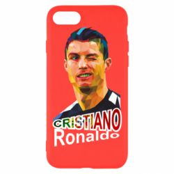 Чохол для iPhone 7 Крістіано Роналдо, полігональний портрет