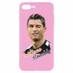 Чохол для iPhone 7 Plus Крістіано Роналдо, полігональний портрет