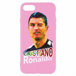 Чехол для iPhone 8 Криштиану Роналду, полигональный портрет - FatLine