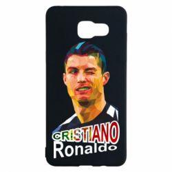 Чохол для Samsung A5 2016 Крістіано Роналдо, полігональний портрет
