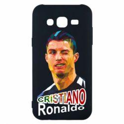 Чохол для Samsung J5 2015 Крістіано Роналдо, полігональний портрет