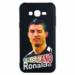 Чохол для Samsung J7 2015 Крістіано Роналдо, полігональний портрет