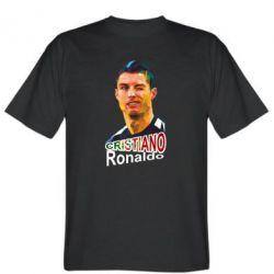 Мужская футболка Криштиану Роналду, полигональный портрет - FatLine