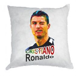Подушка Крістіано Роналдо, полігональний портрет