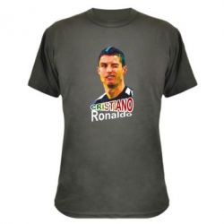 Камуфляжная футболка Криштиану Роналду, полигональный портрет - FatLine