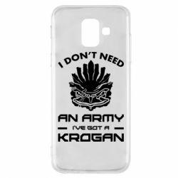 Купить Mass Effect, Чехол для Samsung A6 2018 Krogan, FatLine