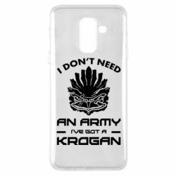 Купить Mass Effect, Чехол для Samsung A6+ 2018 Krogan, FatLine