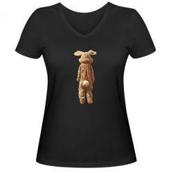 Женская футболка с V-образным вырезом Krolik