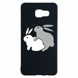 Чехол для Samsung A5 2016 Кролики - FatLine