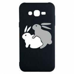 Чехол для Samsung J7 2015 Кролики - FatLine