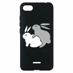 Чехол для Xiaomi Redmi 6A Кролики - FatLine