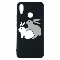Чехол для Huawei P Smart Plus Кролики - FatLine