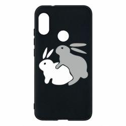 Чехол для Mi A2 Lite Кролики - FatLine
