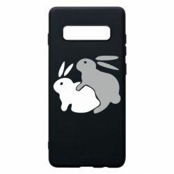 Чохол для Samsung S10+ Кролики