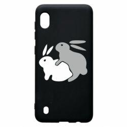 Чохол для Samsung A10 Кролики