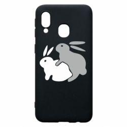 Чохол для Samsung A40 Кролики
