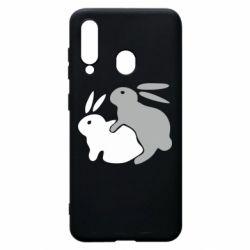 Чохол для Samsung A60 Кролики
