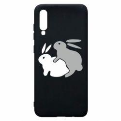 Чохол для Samsung A70 Кролики