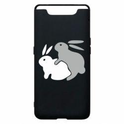 Чохол для Samsung A80 Кролики