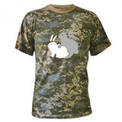 Камуфляжная футболка Кролики - FatLine