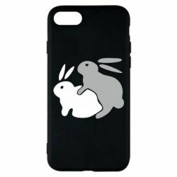 Чехол для iPhone 7 Кролики - FatLine