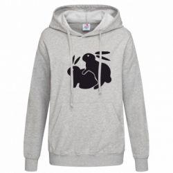 Женская толстовка Кролики - FatLine