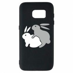 Чехол для Samsung S7 Кролики - FatLine