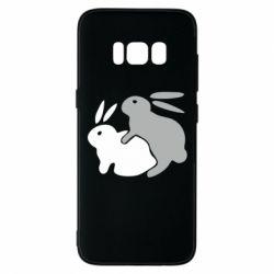 Чехол для Samsung S8 Кролики - FatLine