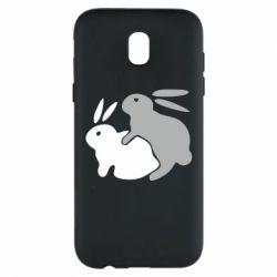 Чехол для Samsung J5 2017 Кролики - FatLine