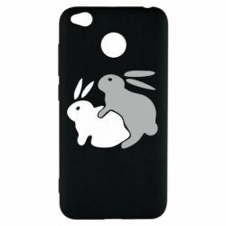 Чехол для Xiaomi Redmi 4x Кролики - FatLine