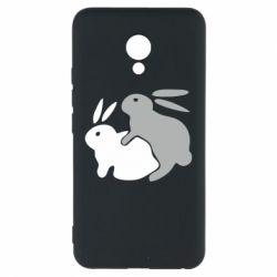 Чехол для Meizu M5 Кролики - FatLine