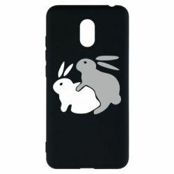 Чехол для Meizu M6 Кролики - FatLine