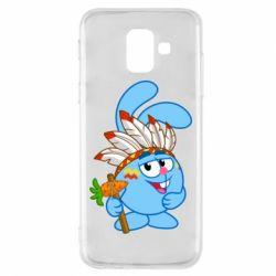 Купить Смешарики, Чехол для Samsung A6 2018 Крош, FatLine