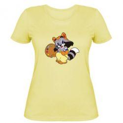 Женская футболка Крошка Енот