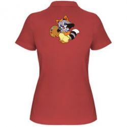 Женская футболка поло Крошка Енот