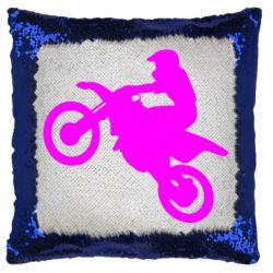 Подушка-хамелеон Кроссовый мотоцикл